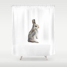 Watercolor rabbit Shower Curtain