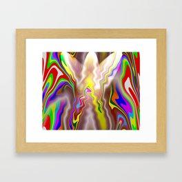 color curves Framed Art Print