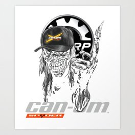 can_om so der dark soul clothing slogan logo car Art Print
