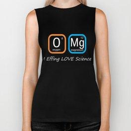 Top Fun Science Nerd OMG Love Science Periodic Table Gift Design Biker Tank