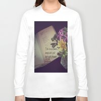 les miserables Long Sleeve T-shirts featuring Books Les Miserables by KimberosePhotography