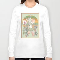 blush Long Sleeve T-shirts featuring blush by CASSIDY RAE MARIETTA