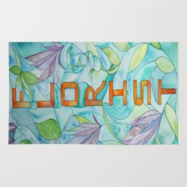 Florist Stained Glass Rug