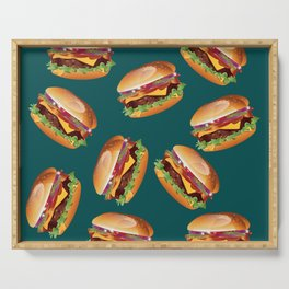 Deluxe Cheeseburger Serving Tray