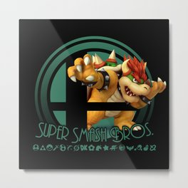 Bowser - Super Smash Bros. Metal Print