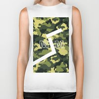 "military Biker Tanks featuring Military  by ""CVogiatzi."