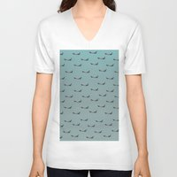 planes V-neck T-shirts featuring Planes by Oscar Lagunah