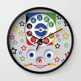 Classic Retro vintage Smiley Toys Dial Phone Wall Clock