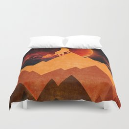 Golden Nighter Duvet Cover