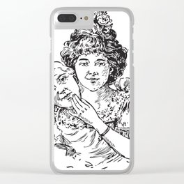 TWO FACED WOMAN Abstract Art Clear iPhone Case