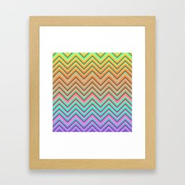 Chevrons on Parade Framed Art Print