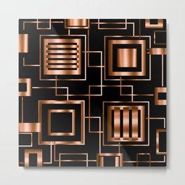 Behind the Copper Bars Metal Print