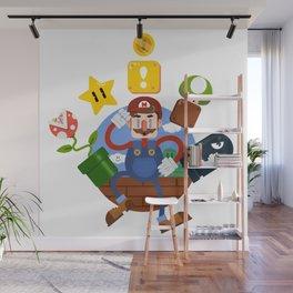 Mario-A-GoGo! Wall Mural