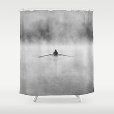 Rowing On The Chattahoochee Shower Curtain