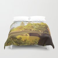 central park Duvet Covers featuring Central Park by Vivienne Gucwa
