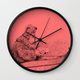 Father Mapple's Passage from Life into Death Wall Clock