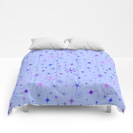Atomic Starry Night in Purple Comforters