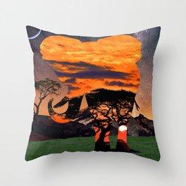 Elephant Skies Throw Pillow