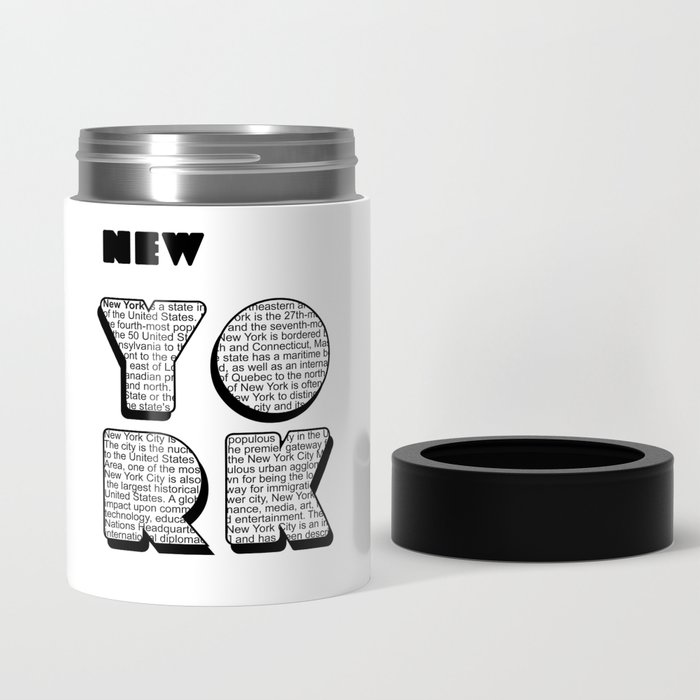 New York in writing Can Cooler