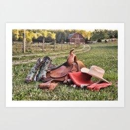 Saddle Up  Art Print