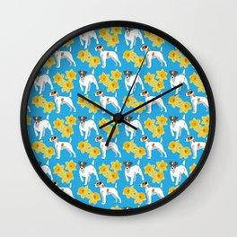 Jack Russel Terrier Dog Wall Clock
