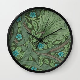 "William Morris ""Forget-Me-Nots"" (""Pimpernel"" detail) Wall Clock"