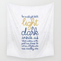 snape Wall Tapestries featuring Light and dark inside us by Earthlightened