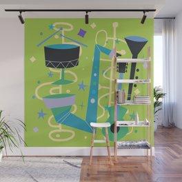 Midcentury Modern Fifties Jazz Composition Wall Mural