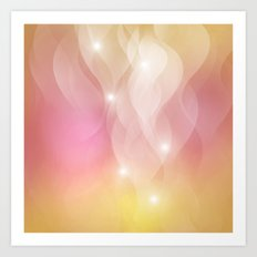 The Sound of Light and Color - pink & honey Art Print