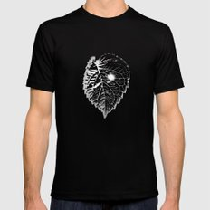 Space Leaf Black SMALL Mens Fitted Tee