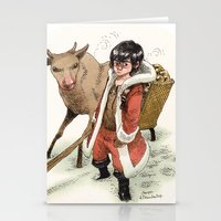 bouletcorp Stationery Cards featuring Kid Santa by Bouletcorp