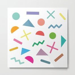 Shapes of the 80's Metal Print