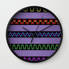 Wavy The Seven Wall Clock