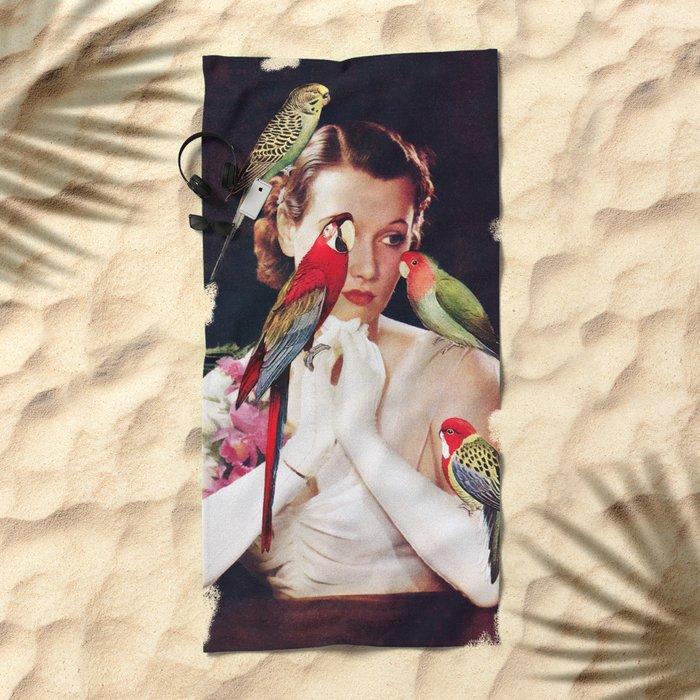 Bird Lady Beach Towel
