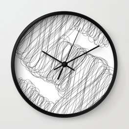 """"""" Cloud Collection """" - Minimal Letter S Print Wall Clock"""