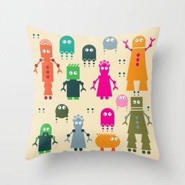 Robots Throw Pillow