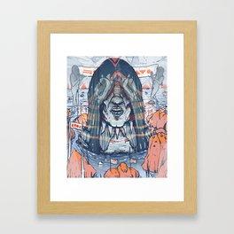 Head I Framed Art Print