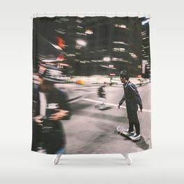 Skate in street 4 Shower Curtain