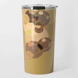 carmen - abstract design warm tan brown caramel beige taupe Travel Mug