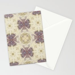 Lily Cream Pattern Stationery Cards