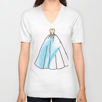 ravenclaw V-neck T-shirts featuring Ravenclaw Dress by AlwaysRiverose