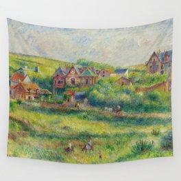 """Auguste Renoir """"Le châlet de Blanche Pierson à Pourville"""" Wall Tapestry"""