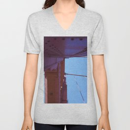 Looking Up, Walking the Golden Gate Unisex V-Neck