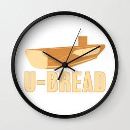 U-Bread U-Boat Submarine Water Sea Captain Sailor Design Wall Clock