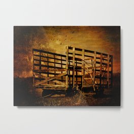 Waiting for the Hay Metal Print