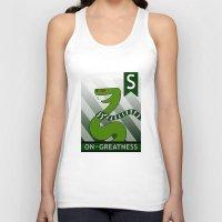 slytherin Tank Tops featuring Slytherin Snake by makoshark