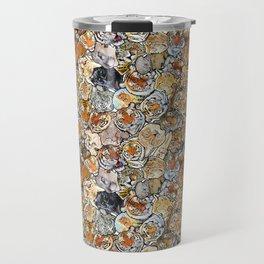 Big Cat Collage Travel Mug