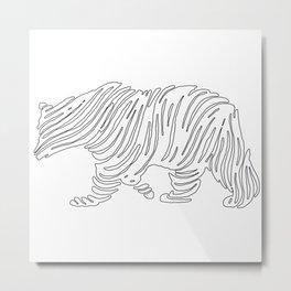 Grizzly Bear Art Metal Print