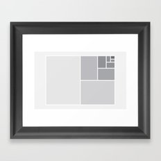 Fibonacci Blocks Framed Art Print