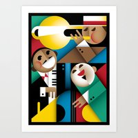 jazz Art Prints featuring Jazz by Szoki